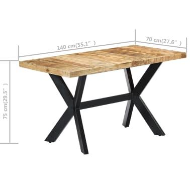 "vidaXL Dining Table 55.1""x27.6""x29.5"" Solid Rough Mango Wood[7/11]"