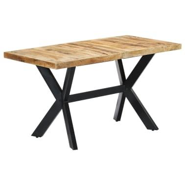 "vidaXL Dining Table 55.1""x27.6""x29.5"" Solid Rough Mango Wood[10/11]"