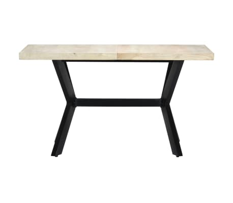 "vidaXL Dining Table 55.1""x27.6""x29.5"" Solid Bleached Mango Wood[2/11]"