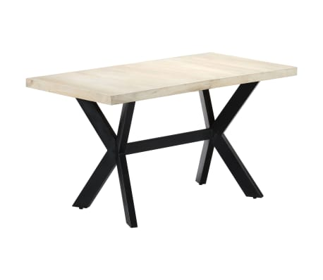 "vidaXL Dining Table 55.1""x27.6""x29.5"" Solid Bleached Mango Wood[11/11]"