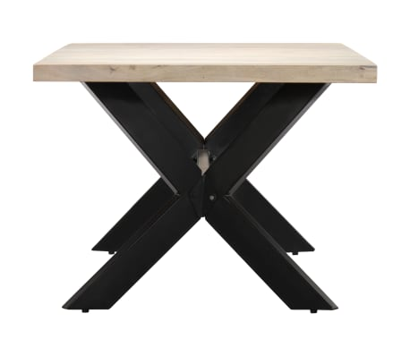 "vidaXL Dining Table 55.1""x27.6""x29.5"" Solid Bleached Mango Wood[3/11]"