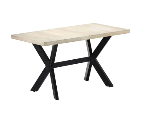 "vidaXL Dining Table 55.1""x27.6""x29.5"" Solid Bleached Mango Wood[8/11]"