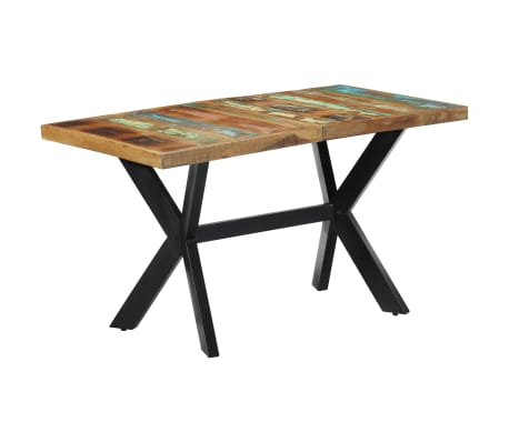 vidaXL Dining Table 140x70x75 cm Solid Reclaimed Wood[1/11]