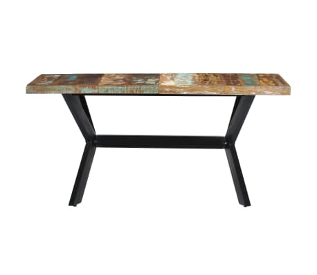 vidaXL Dining Table 140x70x75 cm Solid Reclaimed Wood[2/11]