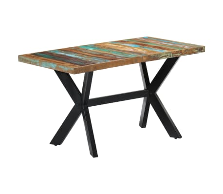 vidaXL Dining Table 140x70x75 cm Solid Reclaimed Wood[10/11]