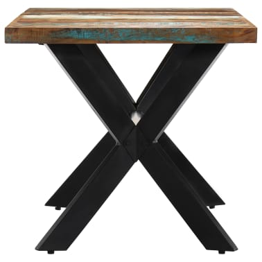 vidaXL Dining Table 140x70x75 cm Solid Reclaimed Wood[3/11]