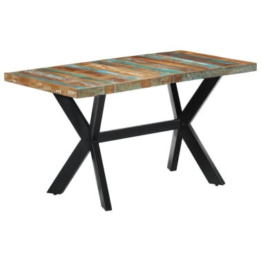 vidaXL Dining Table 140x70x75 cm Solid Reclaimed Wood[9/11]