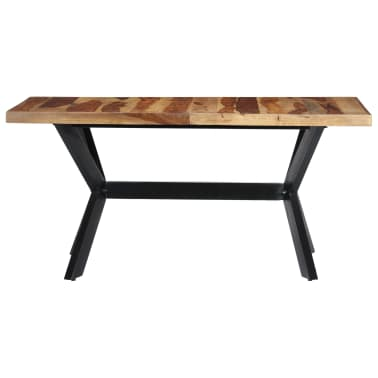 "vidaXL Dining Table 55.1""x27.6""x29.5"" Solid Sheesham Wood[2/11]"