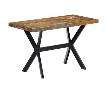 vidaXL Masă de bucătărie, 120 x 60 x 75 cm, lemn masiv reciclat