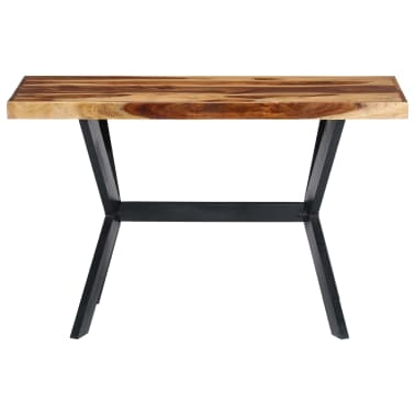 vidaXL Dining Table 120x60x75 cm Solid Sheesham Wood[2/11]