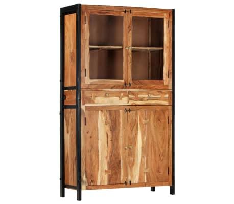 vidaXL Highboard 100x40x175 cm Solid Acacia Wood