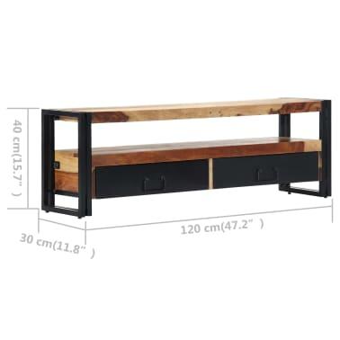 "vidaXL TV Cabinet 47.2""x11.8""x15.7"" Solid Sheesham Wood[9/11]"