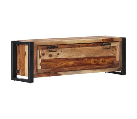 "vidaXL Shoe Cabinet 47.2""x13.8""x15.7"" Solid Sheesham Wood"