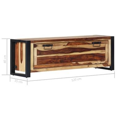 "vidaXL Shoe Cabinet 47.2""x13.8""x15.7"" Solid Sheesham Wood[7/11]"