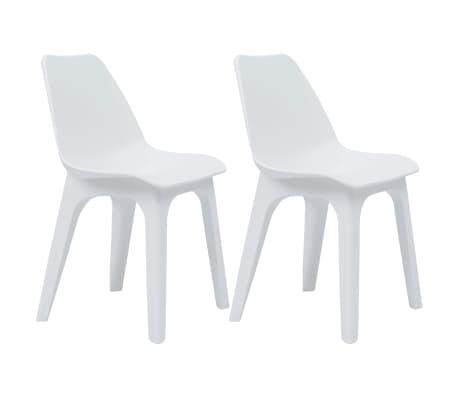 92dc51e337bf5 vidaXL Skladacie stoličky 2 ks biele plastové | vidaXL.sk