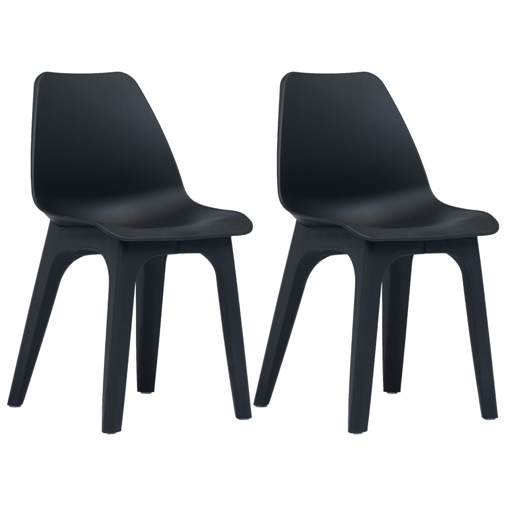 vidaXL Zahradní židle 2 ks antracitové plastové