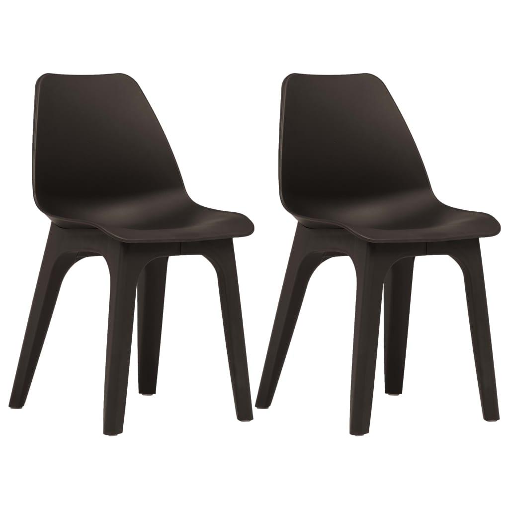 vidaXL Zahradní židle 2 ks hnědé plastové
