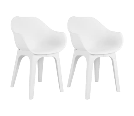 Sedie Da Giardino Bianche.Vidaxl Sedie Da Giardino Con Braccioli 2 Pz In Plastica Bianche