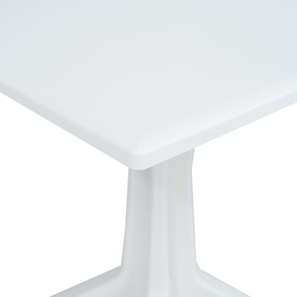 Tavolo Da Esterno Plastica.Vidaxl Tavolo Da Giardino Bianco In Plastica Liscio Tavolino
