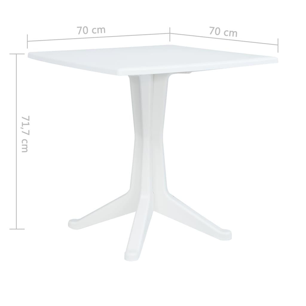 vidaXL Tavolo da Giardino 210x96x72 cm Plastica Bianco Tavolino Tavola Esterni