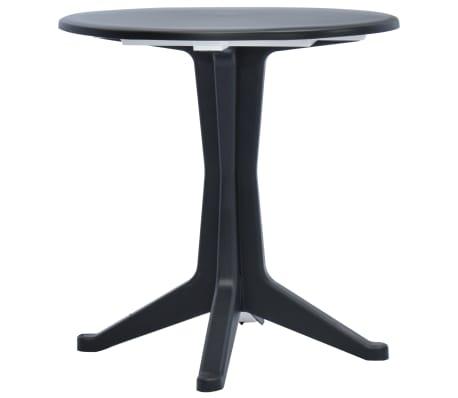 vidaXL Table de jardin Anthracite 70 cm Plastique
