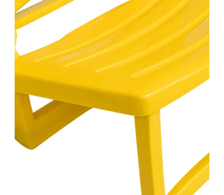 vidaXL Folding Beach Chair 4 pcs Plastic Yellow[6/6]