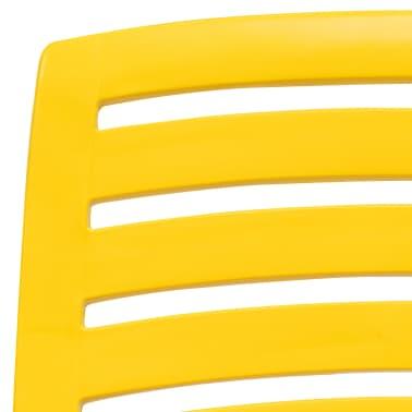 vidaXL Folding Beach Chair 4 pcs Plastic Yellow[5/6]