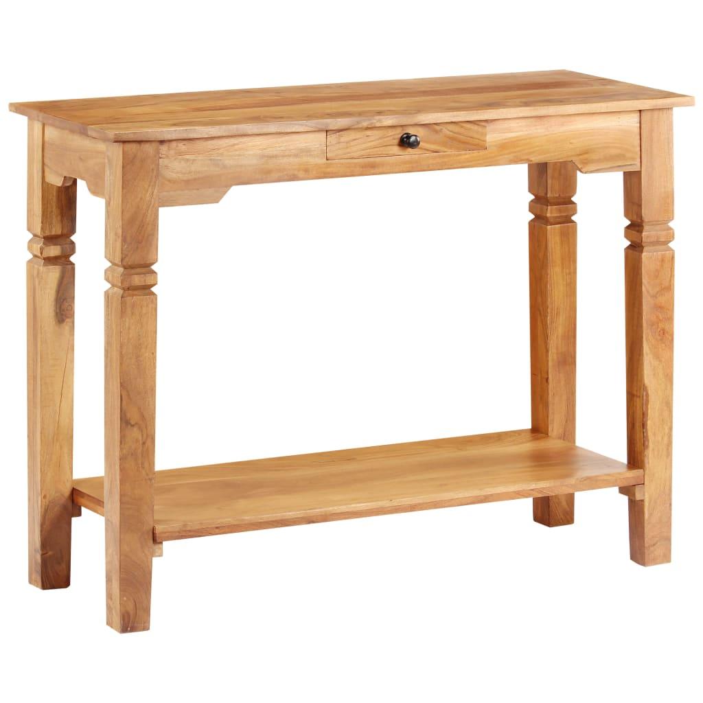 vidaXL Masă consolă, 100x40x76 cm, lemn masiv de acacia vidaxl.ro