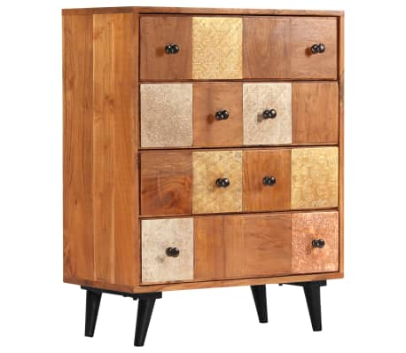 "vidaXL Chest of Drawers 23.6""x11.8""x29.5"" Solid Acacia Wood[1/13]"