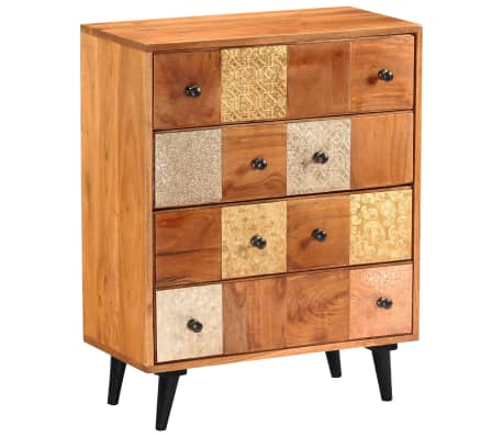 "vidaXL Chest of Drawers 23.6""x11.8""x29.5"" Solid Acacia Wood[11/13]"