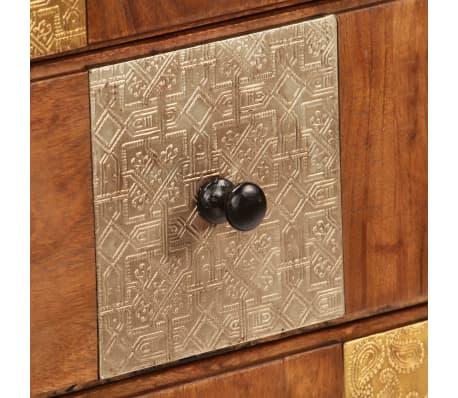 vidaXL Komoda z litego drewna akacjowego, 60x30x75 cm[6/13]