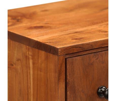 vidaXL Komoda z litego drewna akacjowego, 60x30x75 cm[7/13]