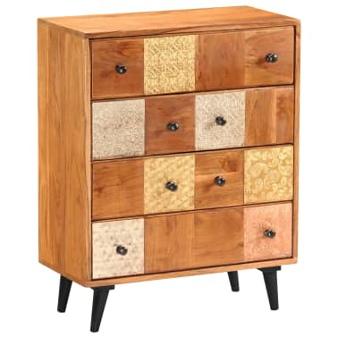 "vidaXL Chest of Drawers 23.6""x11.8""x29.5"" Solid Acacia Wood[12/13]"