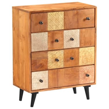 "vidaXL Chest of Drawers 23.6""x11.8""x29.5"" Solid Acacia Wood[13/13]"