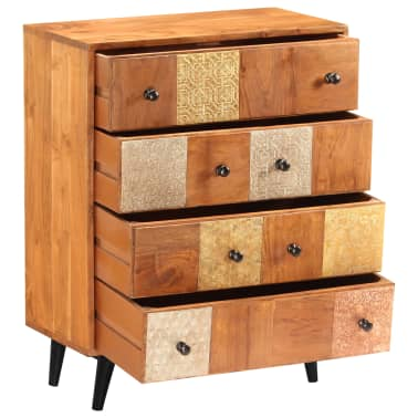 "vidaXL Chest of Drawers 23.6""x11.8""x29.5"" Solid Acacia Wood[3/13]"