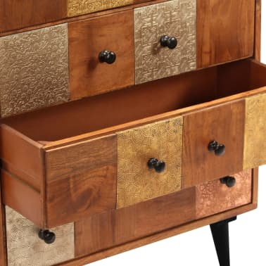 "vidaXL Chest of Drawers 23.6""x11.8""x29.5"" Solid Acacia Wood[4/13]"