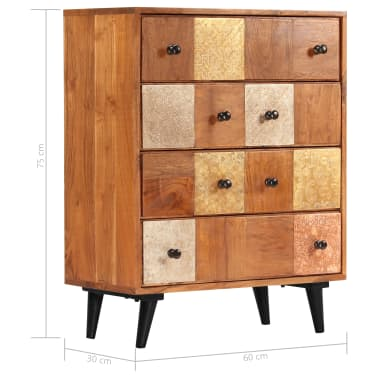 "vidaXL Chest of Drawers 23.6""x11.8""x29.5"" Solid Acacia Wood[8/13]"