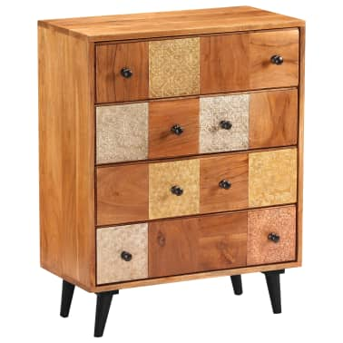"vidaXL Chest of Drawers 23.6""x11.8""x29.5"" Solid Acacia Wood[9/13]"