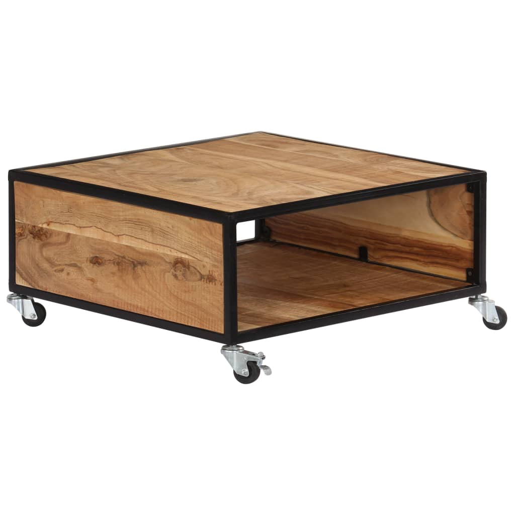 vidaXL Stolik kawowy, 70x70x32 cm, lite drewno akacjowe