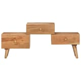 vidaXL TV stolek 108 x 30 x 49 cm masivní akáciové dřevo