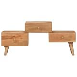 vidaXL TV Cabinet 108x30x49 cm Solid Acacia Wood