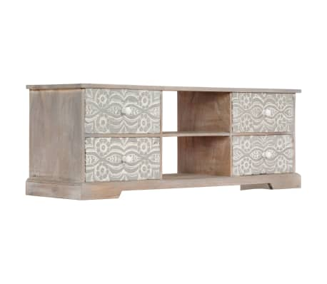"vidaXL TV Cabinet 47.2""x11.8""x15.7"" Solid Acacia Wood[4/13]"