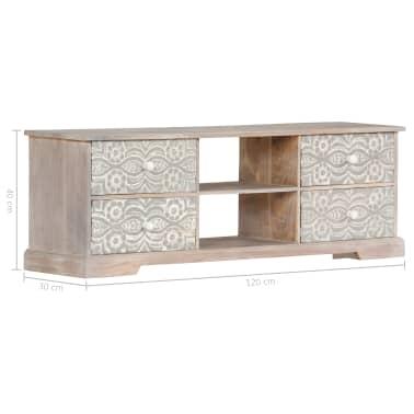 "vidaXL TV Cabinet 47.2""x11.8""x15.7"" Solid Acacia Wood[9/13]"