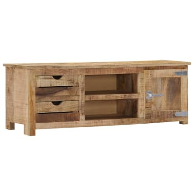 "vidaXL TV Cabinet 47.2""x11.8""x15.7"" Solid Mango Wood[1/14]"