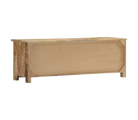 "vidaXL TV Cabinet 47.2""x11.8""x15.7"" Solid Mango Wood[4/14]"