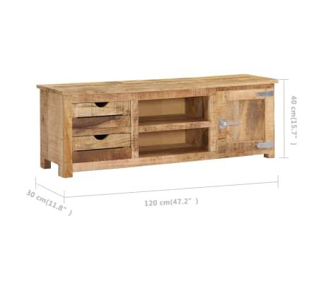 "vidaXL TV Cabinet 47.2""x11.8""x15.7"" Solid Mango Wood[9/14]"