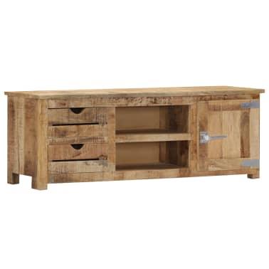 "vidaXL TV Cabinet 47.2""x11.8""x15.7"" Solid Mango Wood[10/14]"