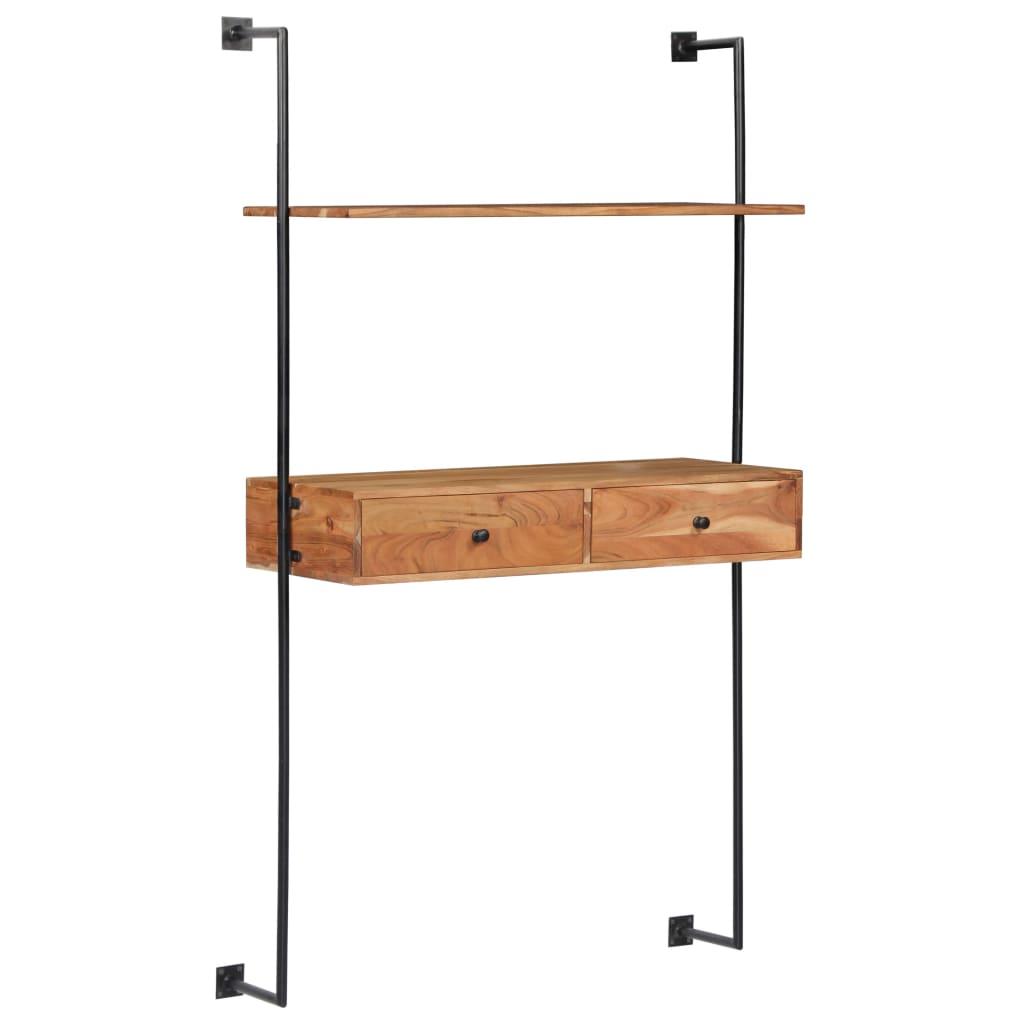 vidaXL Birou de perete, 90 x 40 x 170 cm, lemn masiv de acacia poza vidaxl.ro