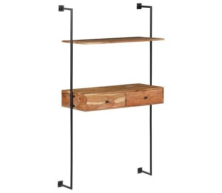 "vidaXL Wall Desk 35.4""x15.7""x66.9"" Solid Acacia Wood[10/11]"