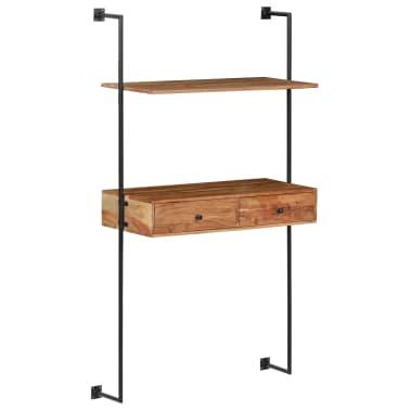 "vidaXL Wall Desk 35.4""x15.7""x66.9"" Solid Acacia Wood[11/11]"